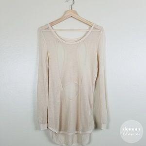 Tops - Light Love Mesh Cutout Sweater M